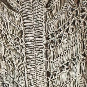 Topshop Dresses - Topshop Olive Green Macrame Open Knit Dress